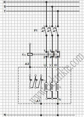 trifaze şönt reaktör bağlantısı