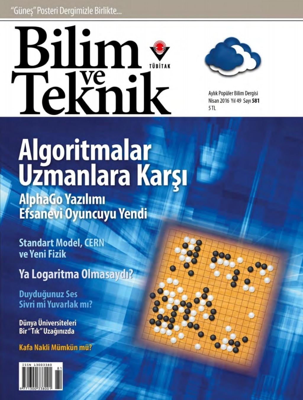 Bilim ve Teknik Nisan 2016 PDF Dergi indir