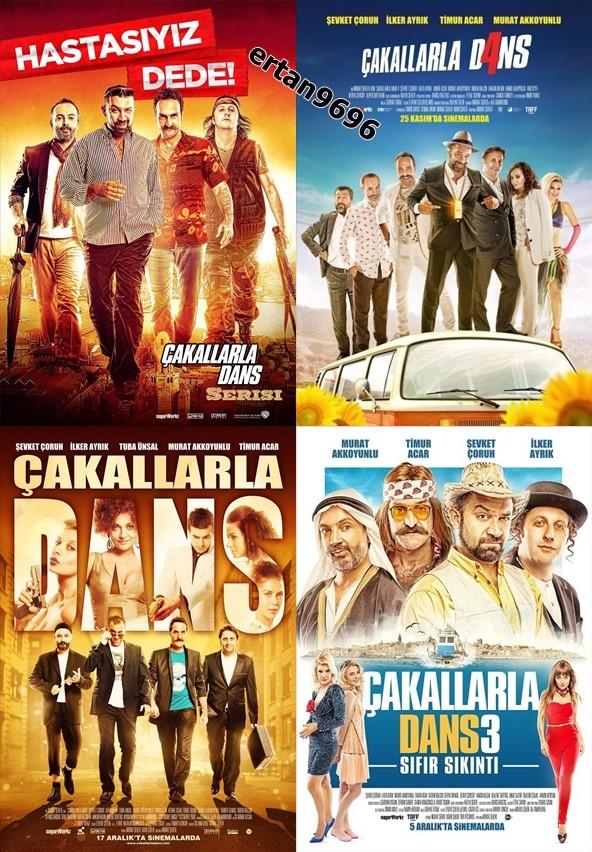 Çakallarla Dans 1-2-3-4 | Boxset | 720p | DVDRip | Yerli Film | Tek Link