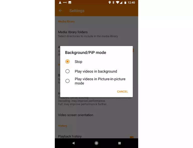 Android 8.0 Oreo Screen Display