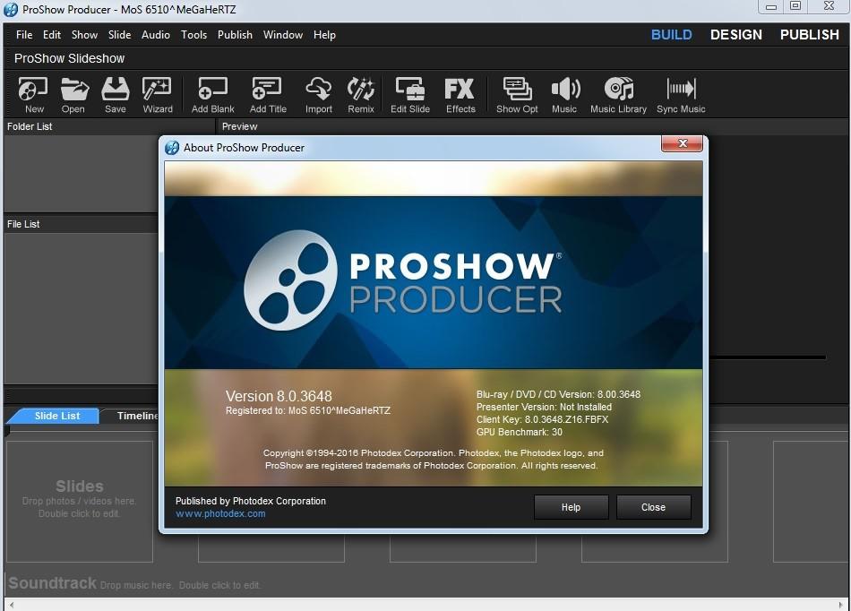 proshow gold 9.0.3776 registration key