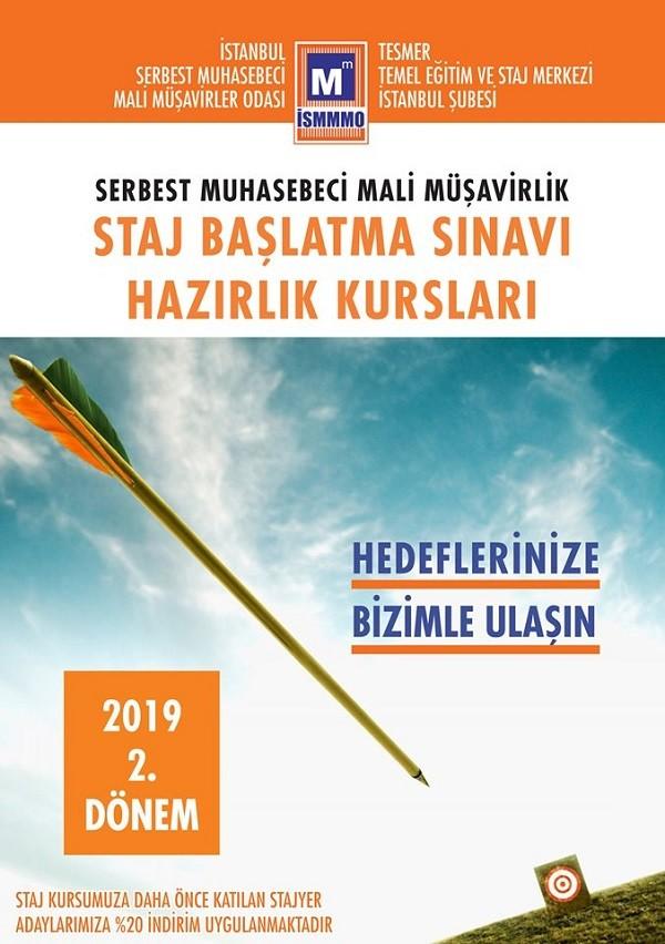 İstanbul SMMM Odasından; Serbest Muhasebeci Mali Müşavirlik Staj Başlatma Sınavı Hazırlık Kursları