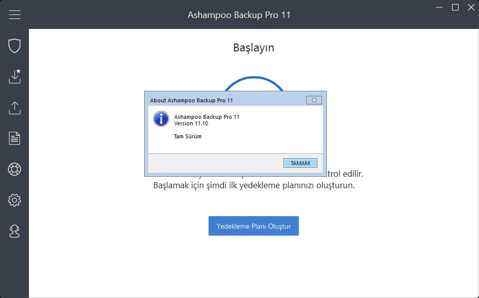 Ashampoo Backup Pro 11.10 Final | Katılımsız
