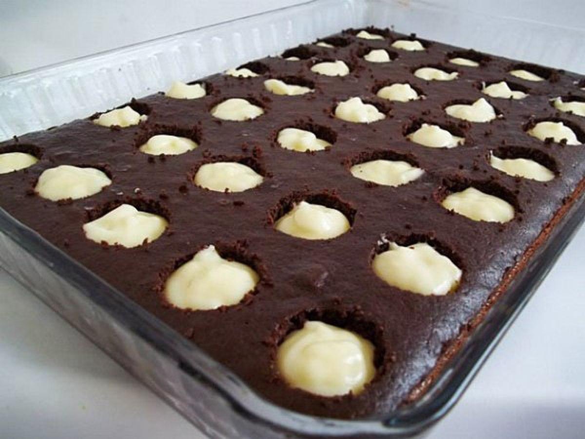 Pudinq doldurulmuş keks
