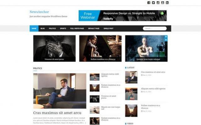 Newsanchor Wordpress Teması
