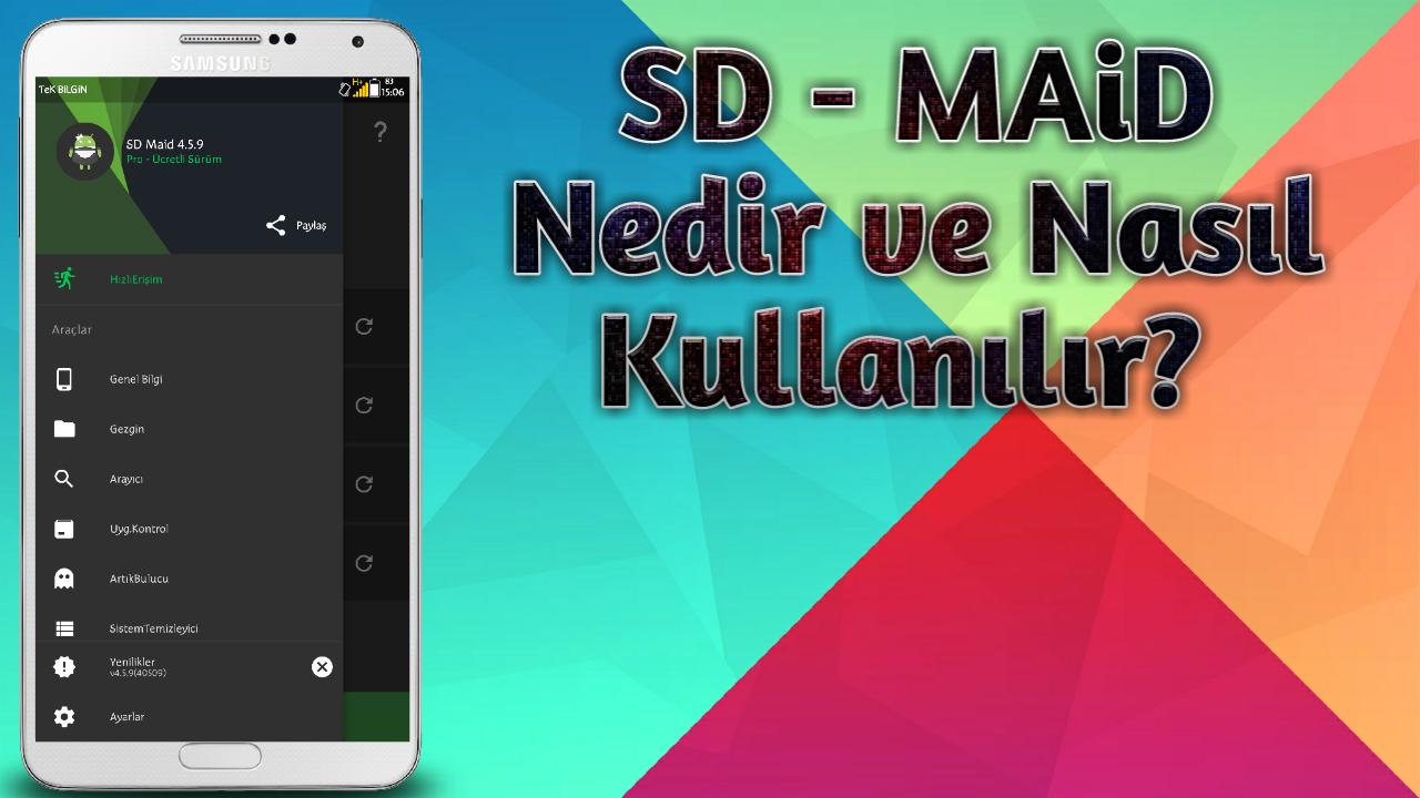 SD Maid - System Cleaning Tool v4.5.9 indir - Türkçe Videolu Anlatım
