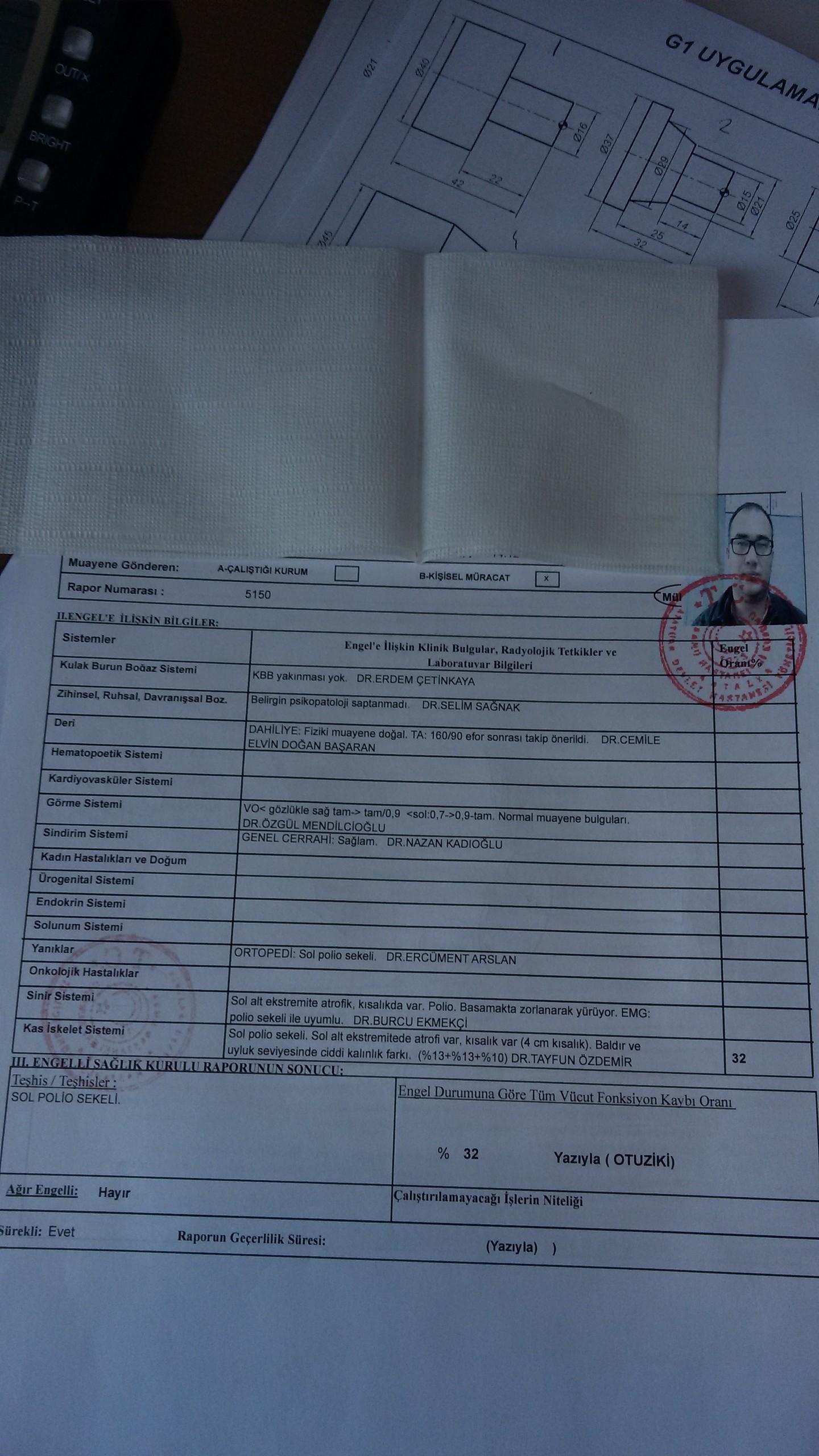 ErJZ6g - H sınıfı sürücü belgesi ve ÖTV'siz araç alımı için rapor paylaşımları