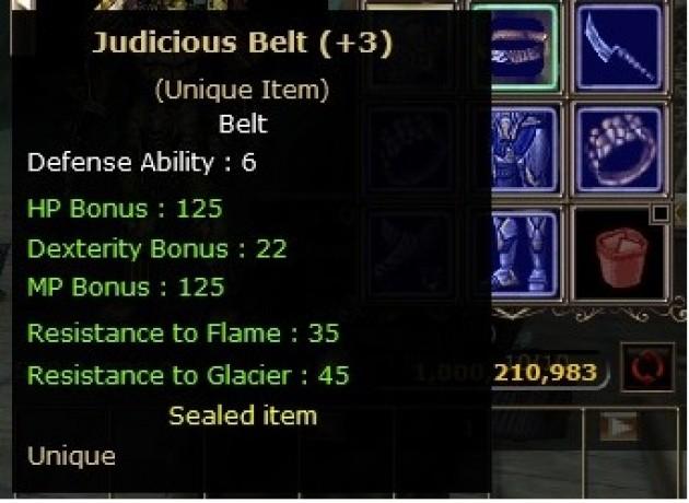 +3 Judicious Belt