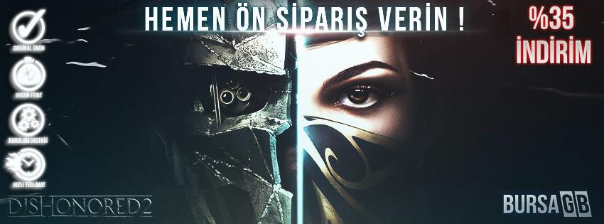 Dishonored 2 Steam Key %35 Indirimli Ön Siparis ile BursaGB Stoklarinda !