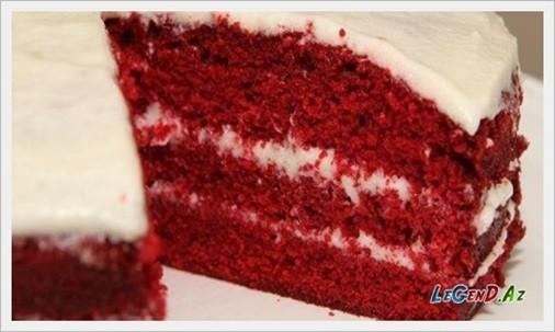 Qırmızı velvet keks