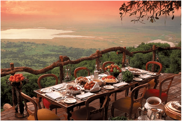 Ngorongoro Crater Lodge Manzara