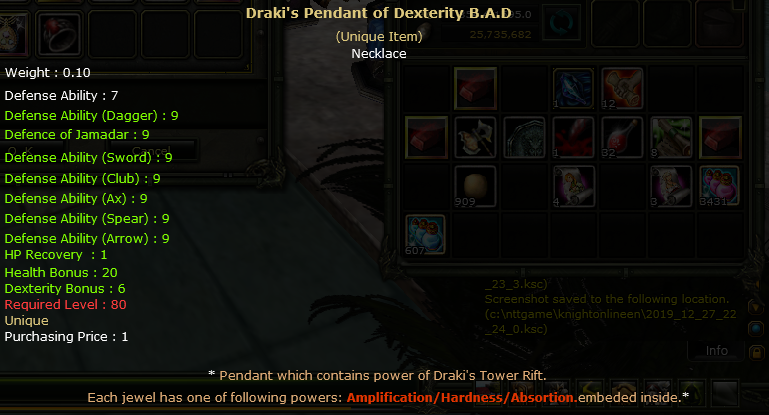Dex Draki Pendant