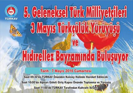 Çankırı TÜRKAV Üç Mayıs Türkçüler Günü, Hıdırellez Bayramı ve Anneler Gününü Kutluyor