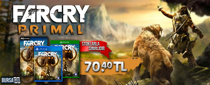 Far Cry Primal Indirimli Satista