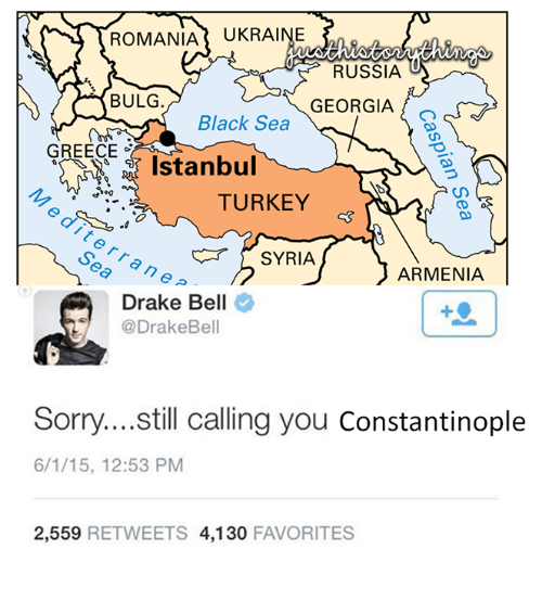 Drake Bell'in İstanbul'a Constantinople demesi GZ1jmZ