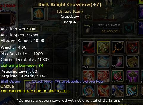 destan+7 dark knight crosbow