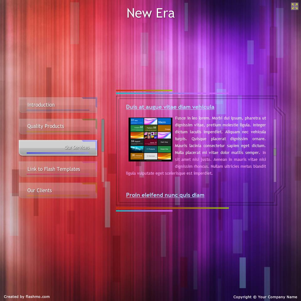 New Era Flash Template download