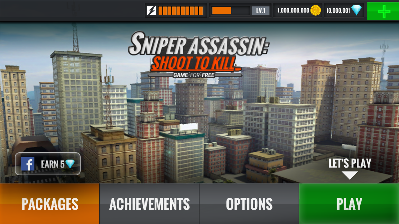 Sniper 3D Assassin: Shoot to Kill İphone Altın Hileli