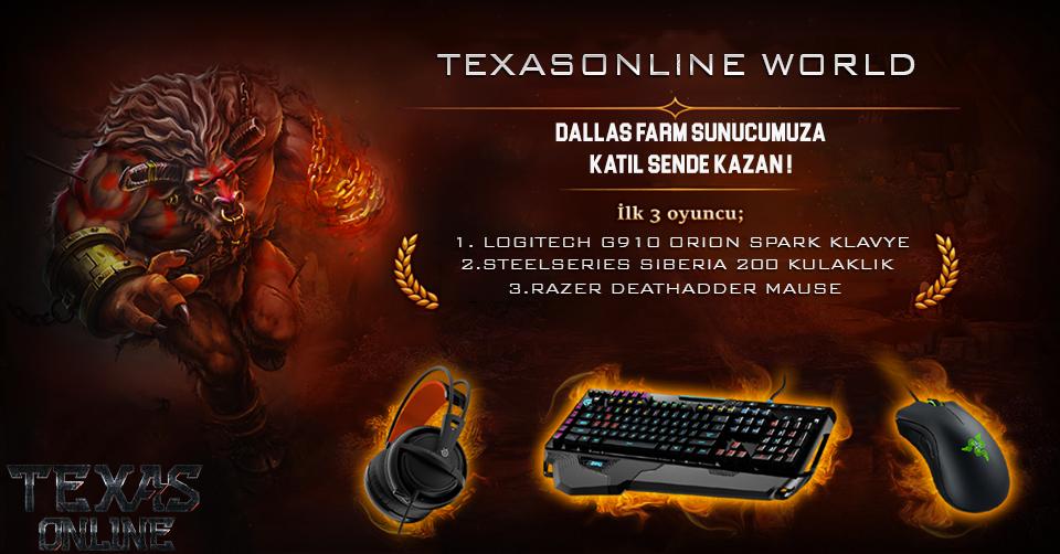 Texas Online World - 15.10.2016 Saat:12:00'da Açılıyor.