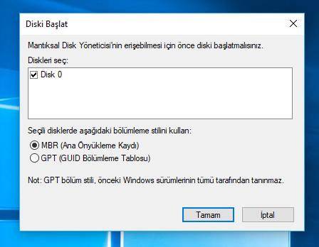 Windows SSD taktıktan sonra MBR mı, GPT mi seçilmeli? - Technopat Sosyal