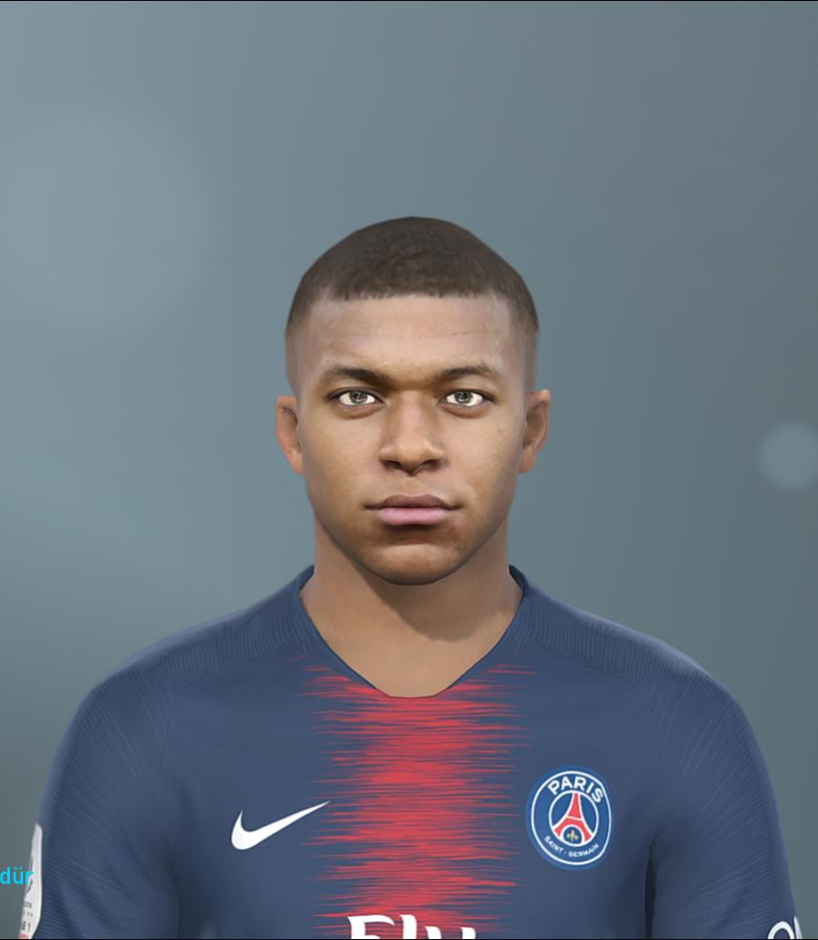 PES 2019 Mbappé and Sané Face by EmreT - PES Patch