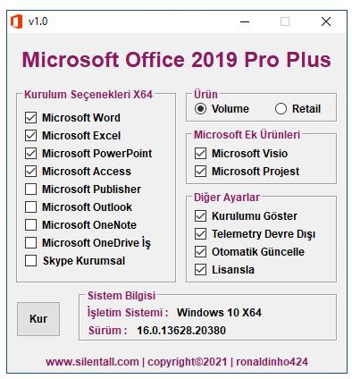 Microsoft Office 2019 | Pro Plus | Visio | Project | X86 & X64 | TR | 8 Şubat 2021 cover