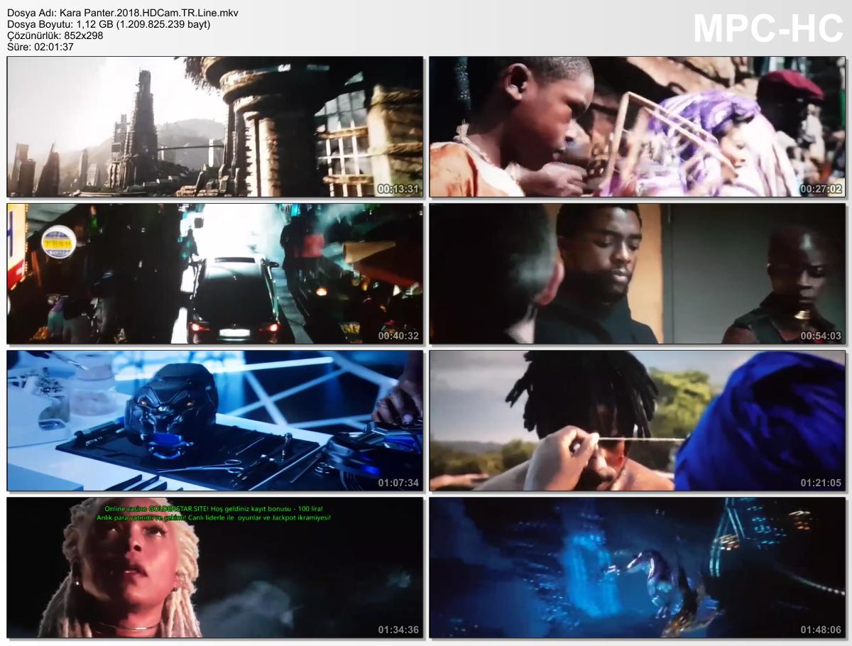 Kara Panter - Black Panther 2018 HDCAM x264 Türkçe Dublaj