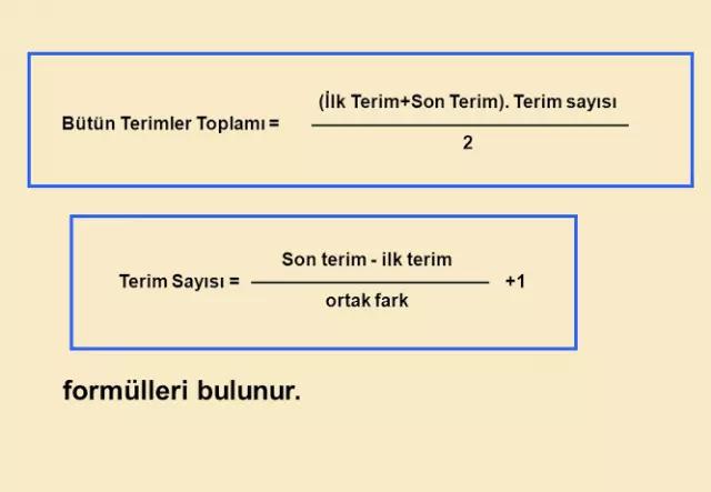 terim sayısı formülü