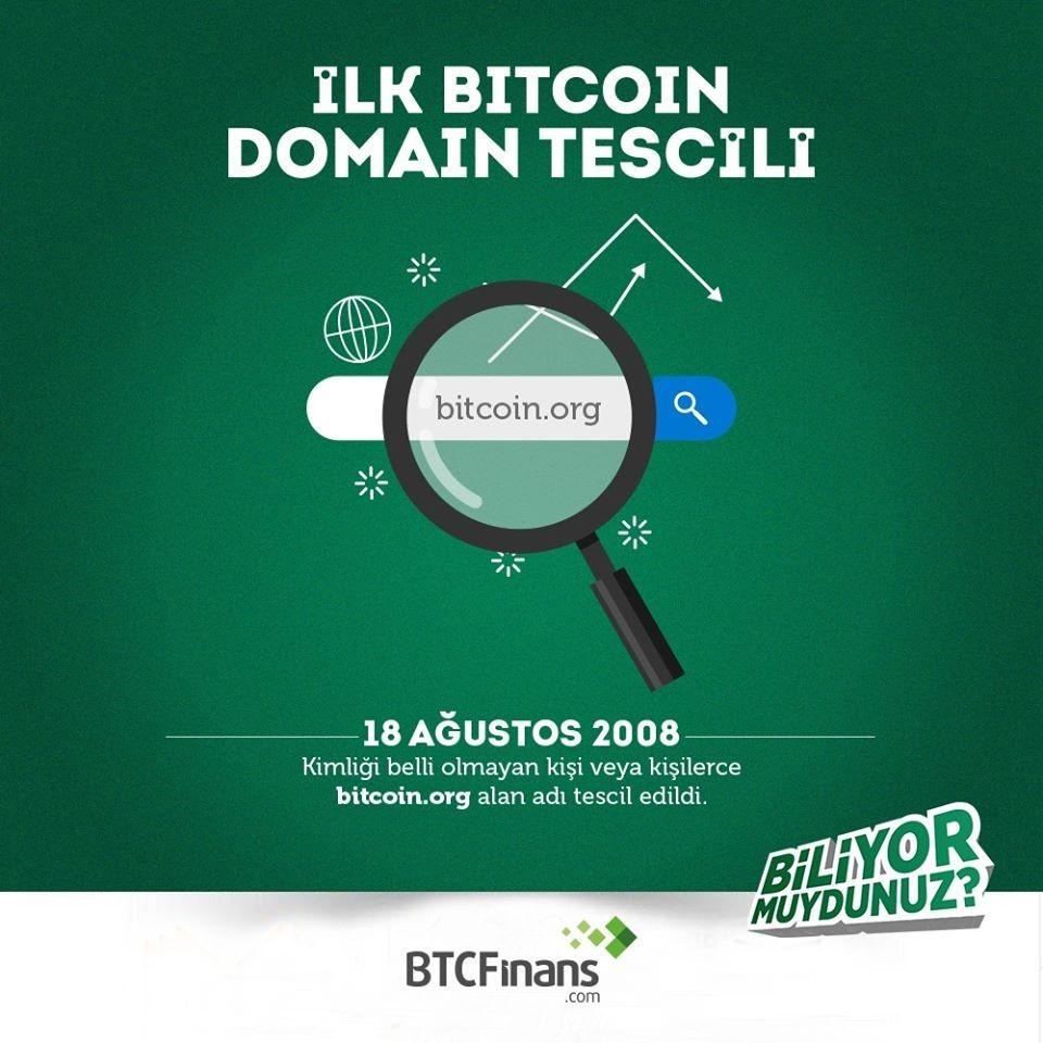İlk Bitcoin Domain Tescili
