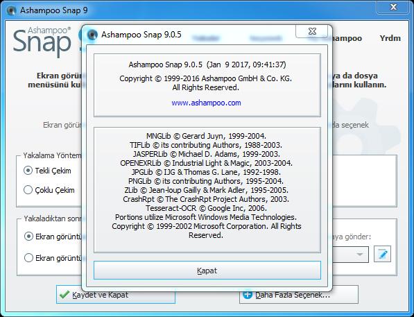 Ashampoo Snap 11.0.0 Final   Katılımsız