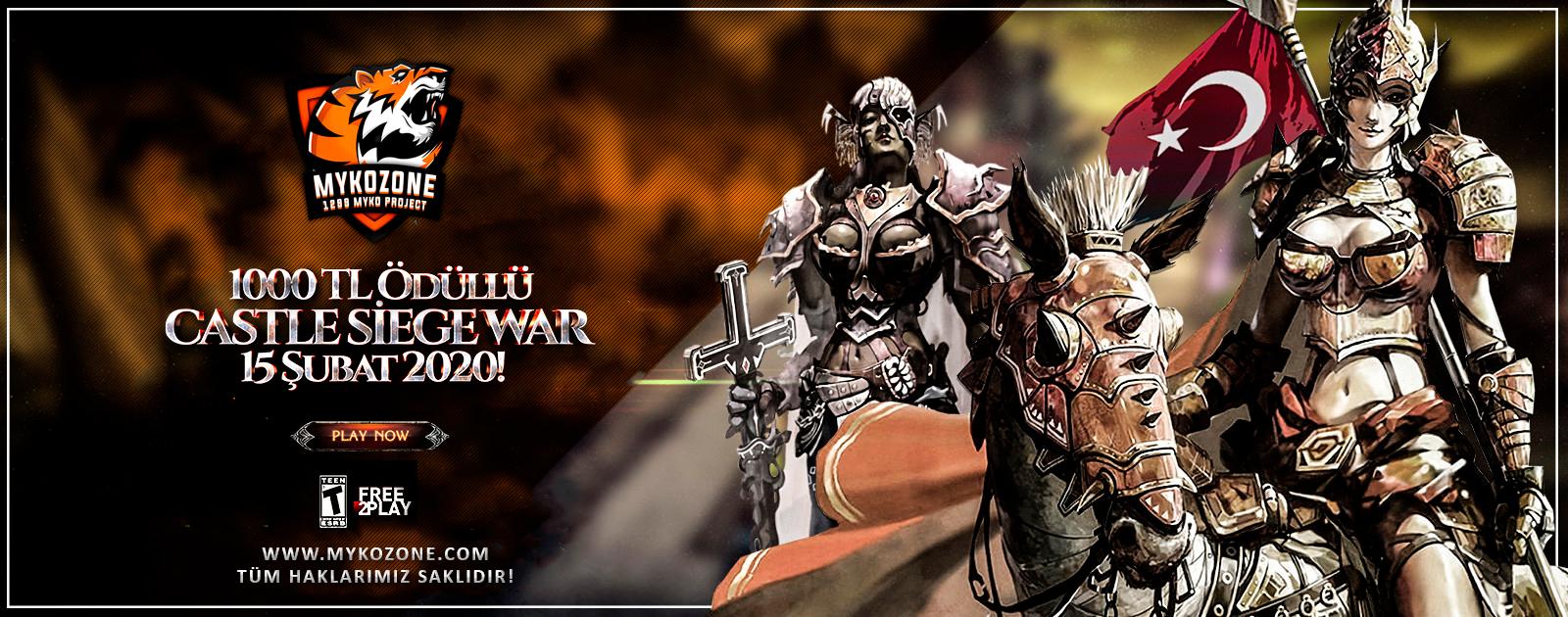 15 Subat Cumartesi Günü 1000 Tl Ödüllü Castle Siege War!