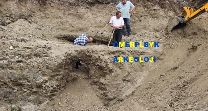 Samsun'da Temel Kazısında Altın Girişli