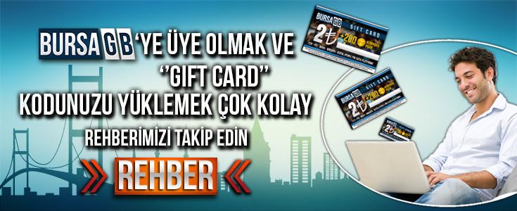 BursaGB 'ye Üyelik ve GİFT CARD Yükleme Rehberi