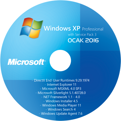 Windows XP Professional SP3 Driver Edition (x86) TR - [12 OCAK 2016]