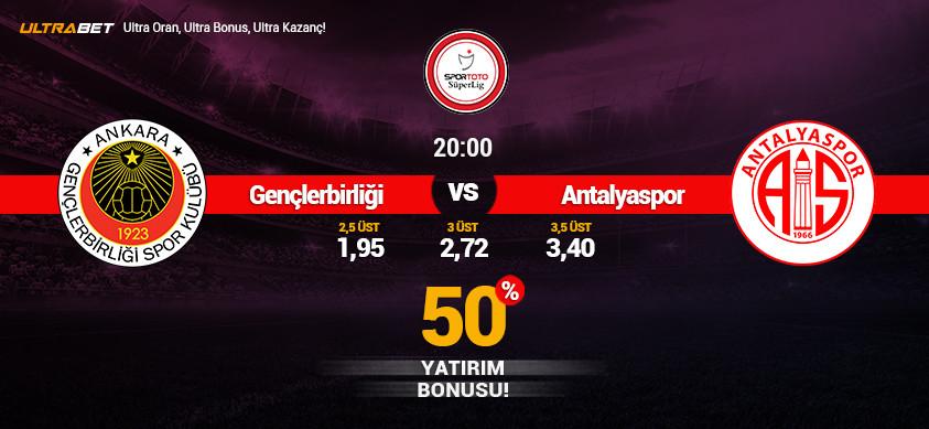 Gençlerbirliği - Antalyaspor Canlı Maç İzle