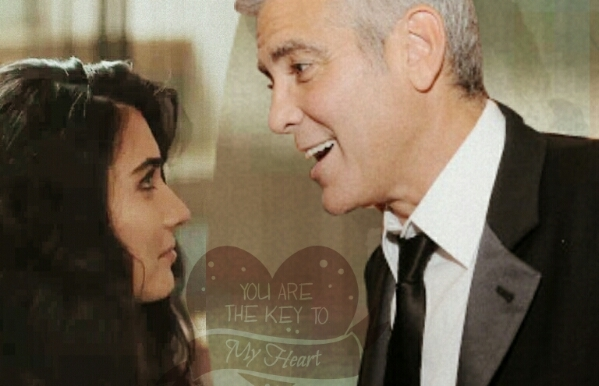 George Clooney and Tuba Buyukustun Photoshopped Pictures KZ88zk