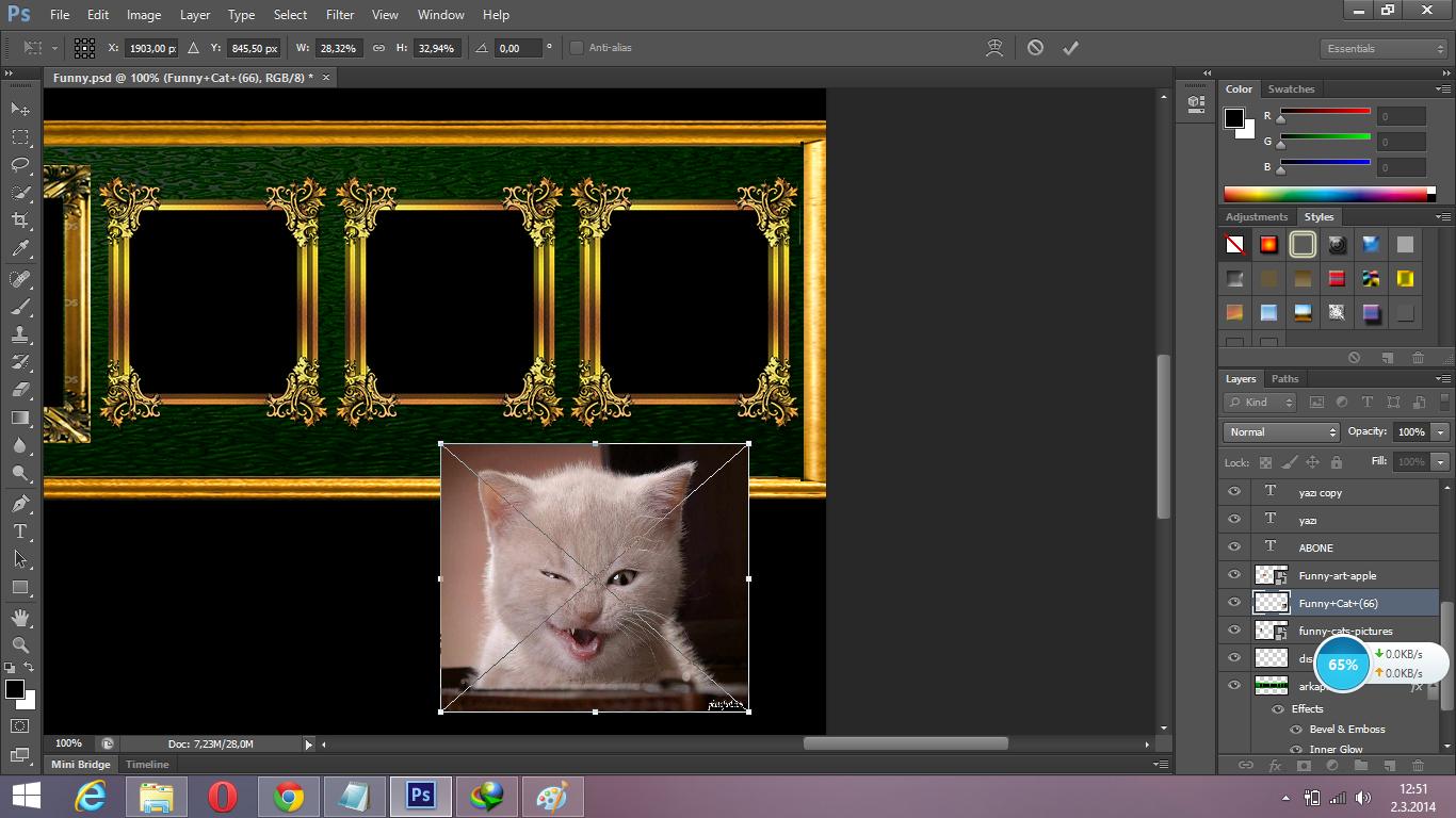 Photoshop layer boyutunu rakamla girmek?