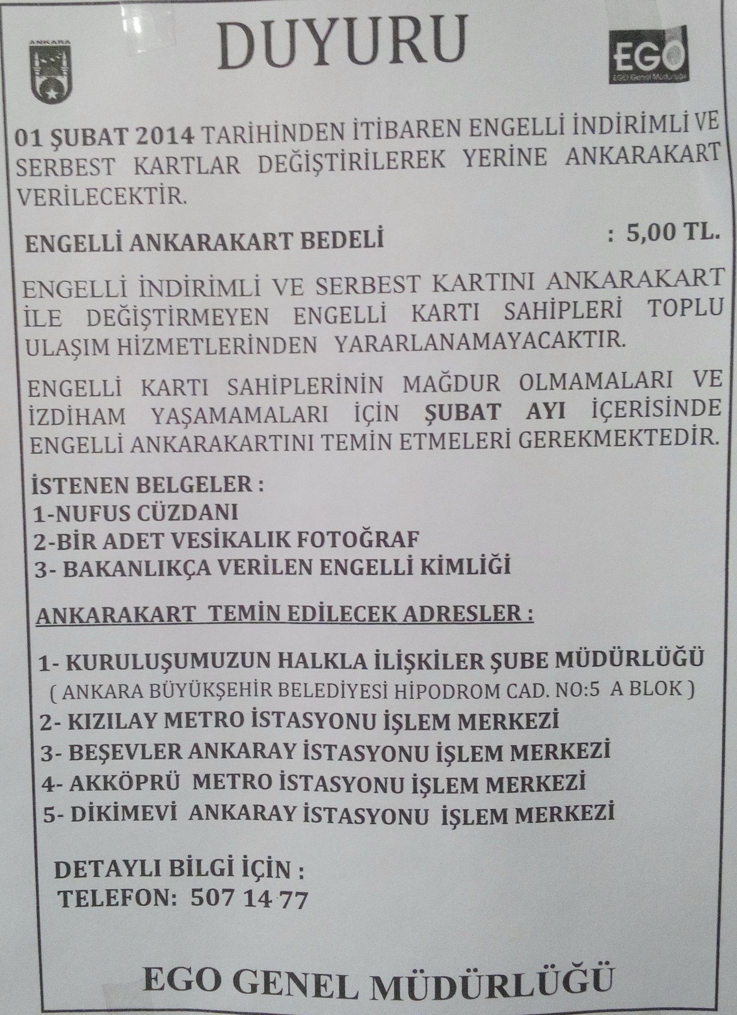 Kgn1jb - Ankara EGO Genel M�d�rli�� �cretsiz Kartlar Hak�nda