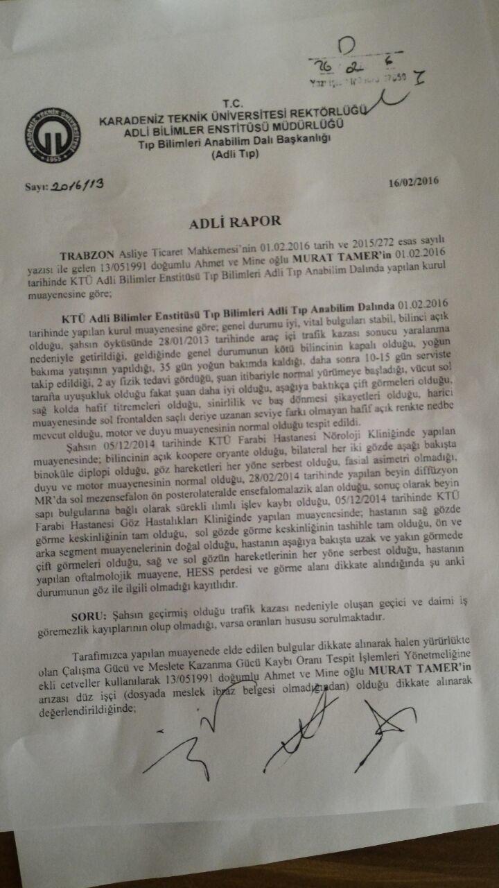 LARm0a - Trafik kazas� sonras� Akt�el Hesaplama detaylar�..?