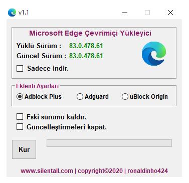 Microsoft Edge Çevrimiçi Yükleyici v1.1