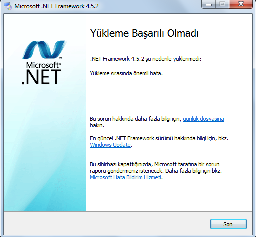 net framework 4.5.2 web installer