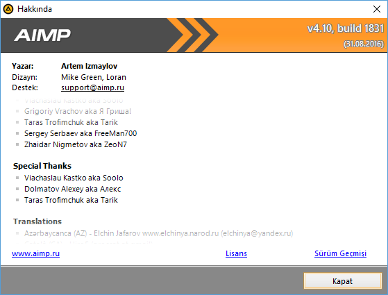 AIMP 4.60 Build 2180 Final | Katılımsız