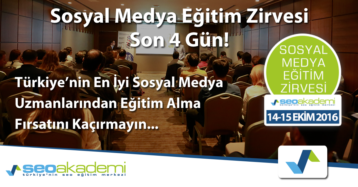 Sosyal Medya Eğitim Zirvesi – Türkiye'nin En İyi Eğitmenlerinden Eğitim Alma Fırsatı
