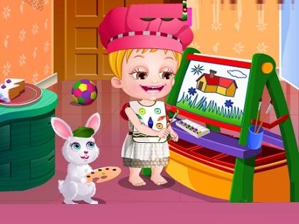 Hazel Bebek Renkleri Öğreniyor Oyunu