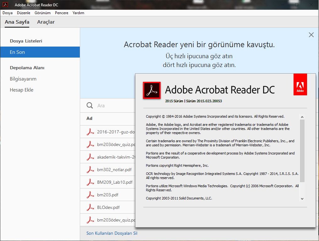 Adobe Acrobat Reader DC 2015.023.20053 TR | Katılımsız