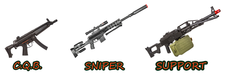 oyun türüne göre airsoft silah seçimi