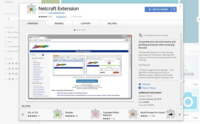 Netcraft Extension