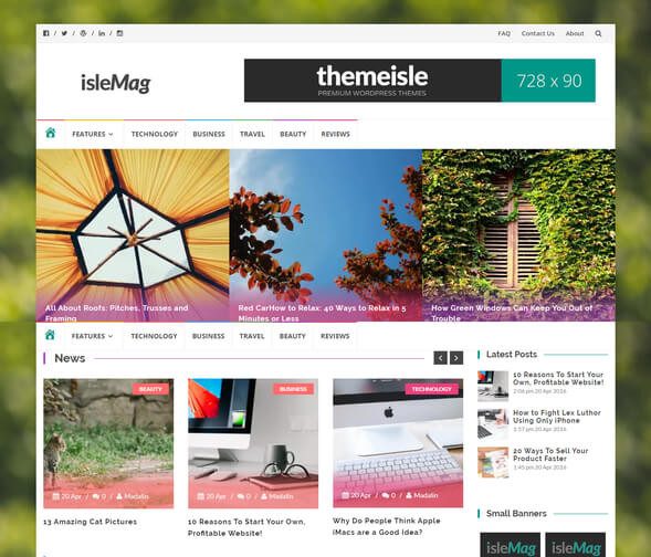 Wordpress Islemag Genel Blog Teması
