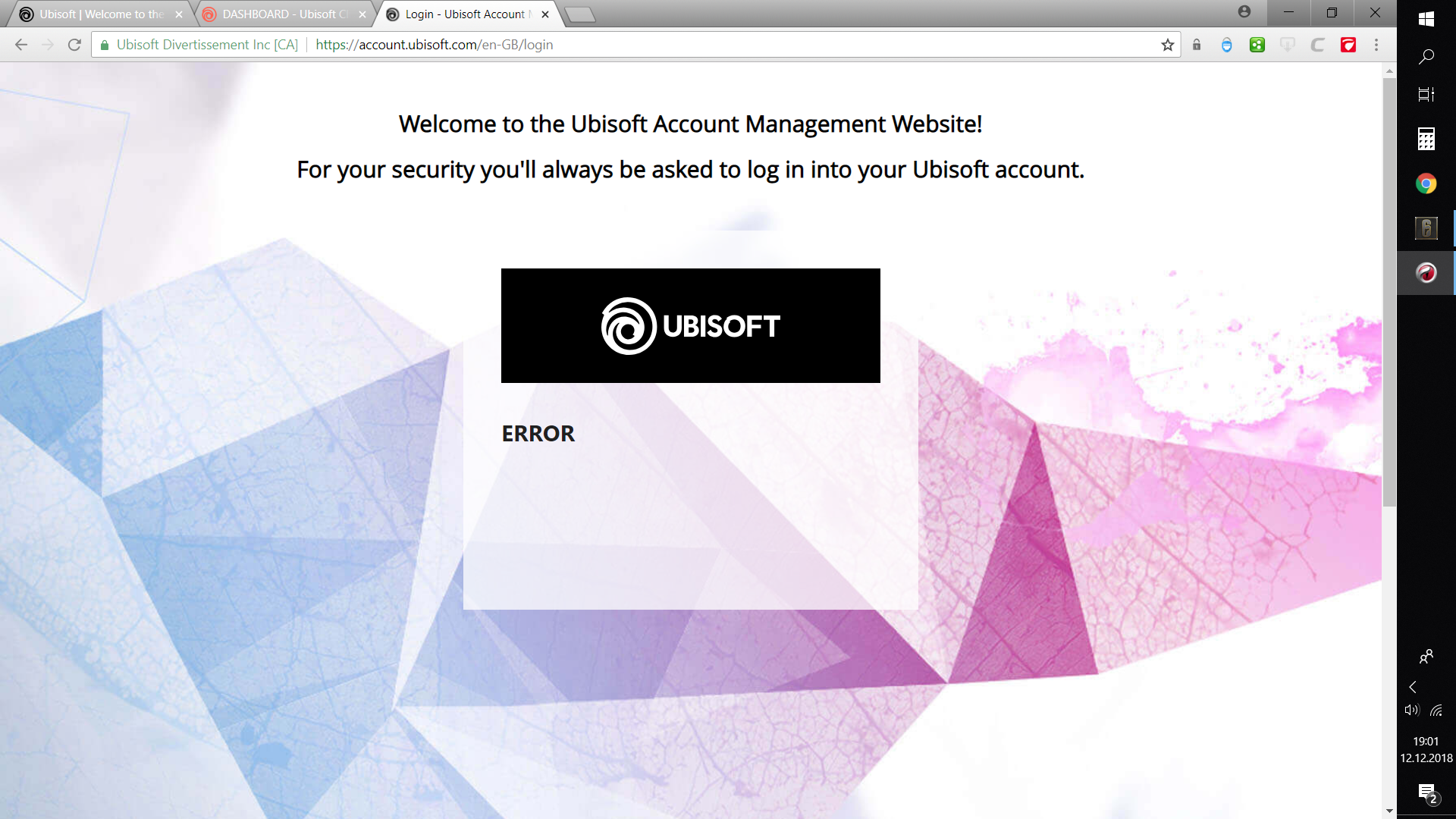 My Friends Told Me About You / Guide login error ubisoft
