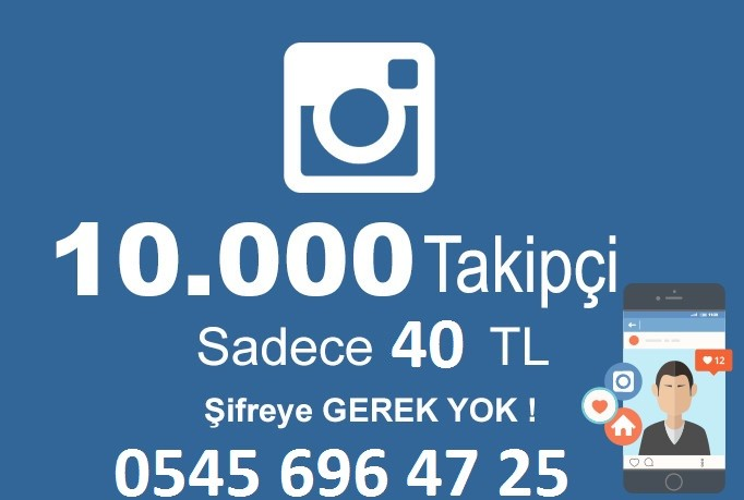 10.000 Aktif Turk takipci 40 TL